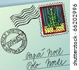 Escrito para Papa Noel, letter for Papa Noel - stock vector