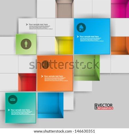 esp10 vector abstract 3D infographics concept background
