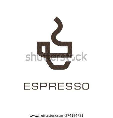 Espresso cup logo. - stock vector