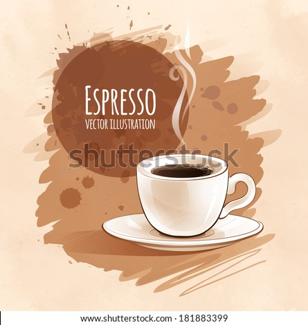 Espresso. Vector illustration. Isolated. - stock vector