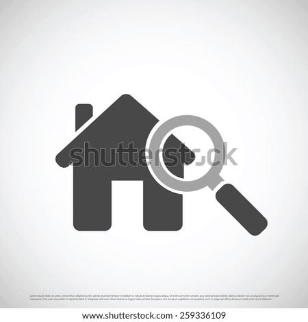 Estate home icon design - stock vector