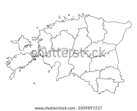 Estonia outline map detailed isolated vector vector de estonia outline map detailed isolated vector country border contour map on white background gumiabroncs Gallery