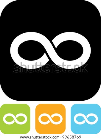 Eternity symbol - Vector icon - stock vector