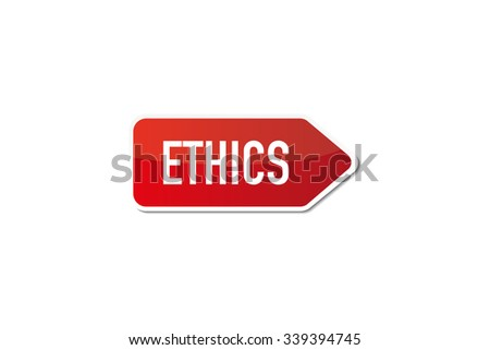 Ethics signboard - stock vector