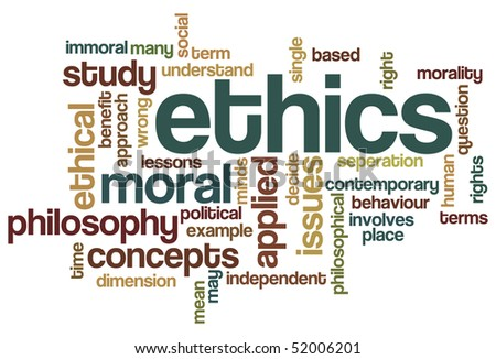 Ethics - Word Cloud - stock vector