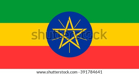 Ethiopia flag , official colors and proportion , accurate vector illustration - stock vector