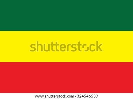Ethiopia Flag Vector - stock vector