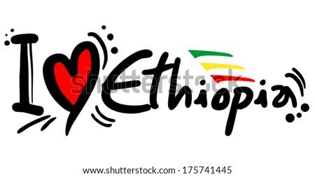 Ethiopia love - stock vector