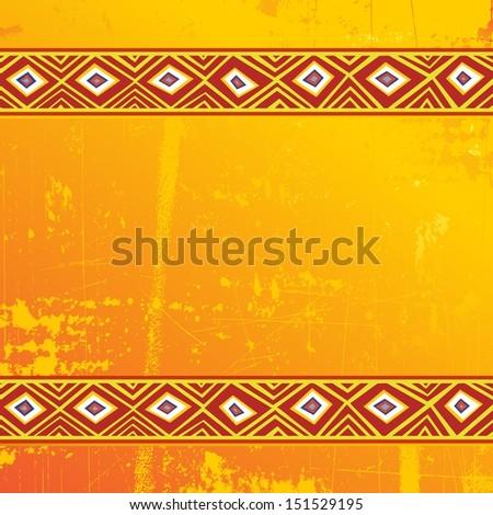 Ethnic Africa Art Grunge Ornamental Pattern - stock vector