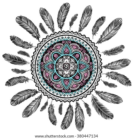 Ethnic american indian dream catcher can stock vector 380447134 ethnic american indian dream catcher can be used as a greeting card m4hsunfo