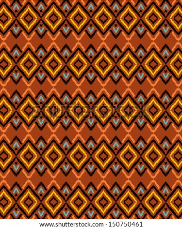 ethnic and aztec pattern - stock vector