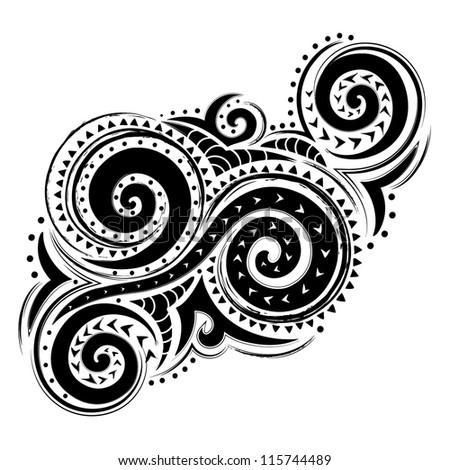 Ethnic black ornament - stock vector