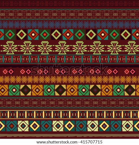 Ethnic boho seamless pattern. Tribal art, aztec print, border ornament. Background texture, wrapping, wallpaper