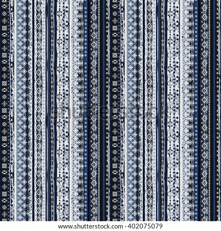 Ethnic boho seamless pattern. Tribal art boho print, border ornament. Background texture, decoration