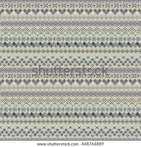 Ethnic boho seamless pattern. Tribal art vintage print. Background texture, wallpaper, wrapping. Fabric design. Borders