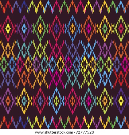 Ethnic colored carpet - stock vector