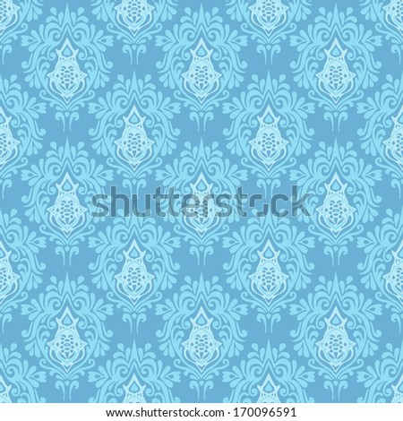 Ethnic damask seamless vector pattern - stock vector