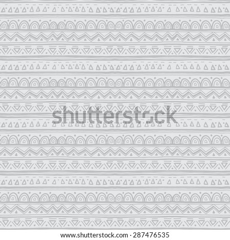 ethnic doodle seamless pattern