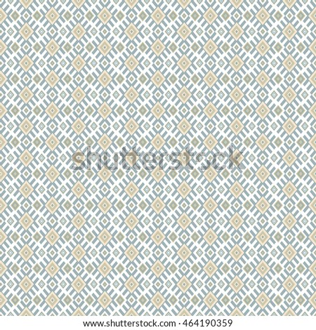 Ethnic geometric seamless pattern in traditional folk tribal style.