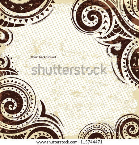 Ethnic grunge background - stock vector