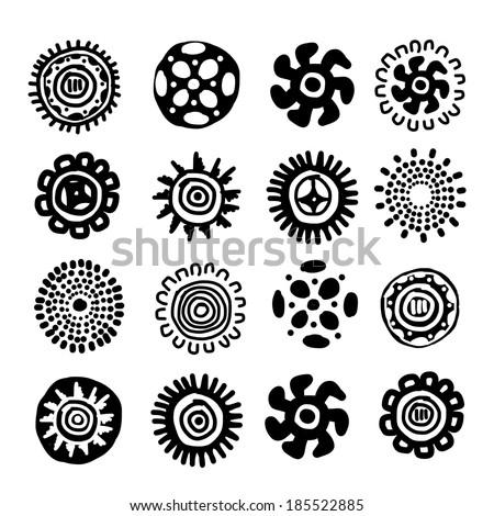 Ethnic handmade ornament for your design - stock vector