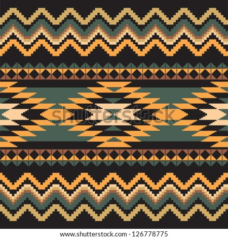 Ethnic ornamental textile seamless geometric pattern - stock vector
