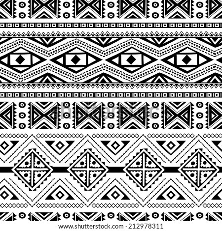 Ethnic ornamental textile seamless pattern for your own design - stock vector