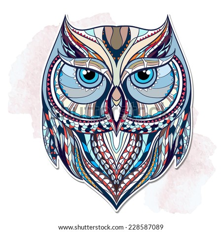 Ethnic owl / african / indian / totem  - stock vector