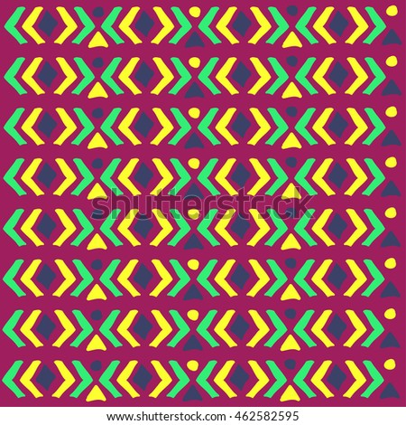 Ethnic pattern. Aztec geometric background. Hand drawn navajo fabric. Modern abstract wallpaper. Vector illustration.