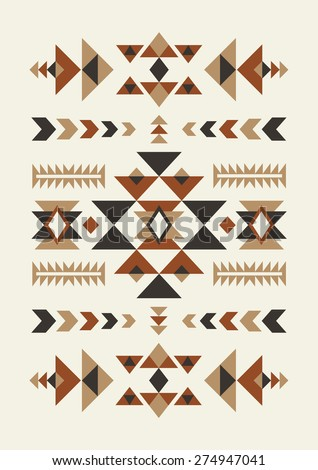 ethnic pattern design. vector illustration - stock vector