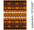 Ethnic pattern in African style - stock vector