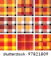 Ethnic Scottish woven pattern. Vector (EPS8), seamless, all part (object) closed, posibility to edit, without transparence. - stock vector