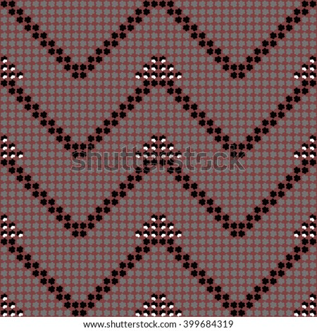 ethnic seamless pattern background in brown and purple colors, vector illustration