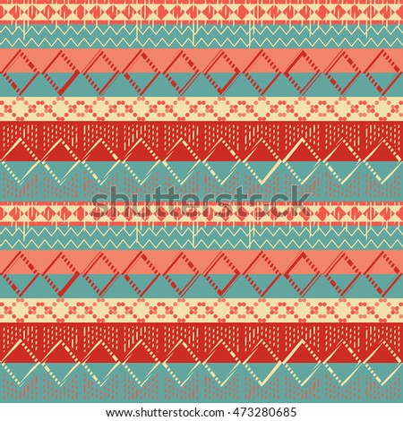 ethnic seamless pattern geometric design. folklore style. vector illustraton background