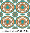 Ethnic seamless wallpaper - stock vector
