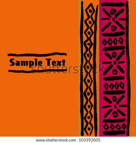 Ethnic text banner - stock vector