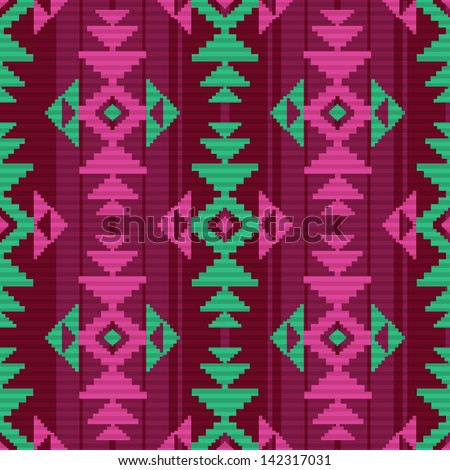Ethnic textile pattern - stock vector