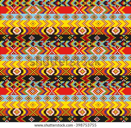 ethnic tribal handmade pattern