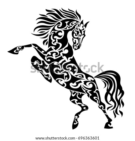 horse totem pole coloring pages - photo#13