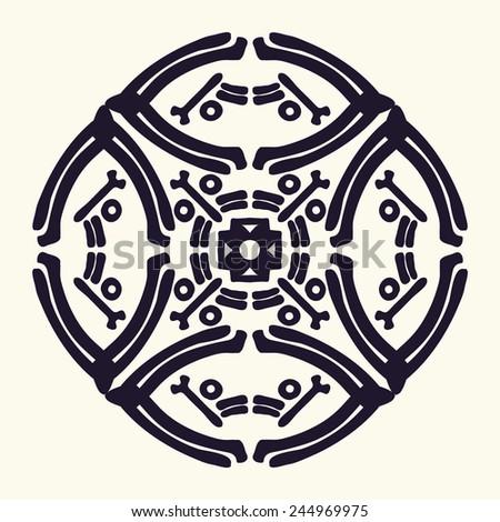 Full Horoscope Circle Vector Illustration Stock Vector