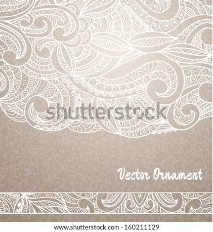 Ethnic vintage ornament background , pattern in engineering zentangle
