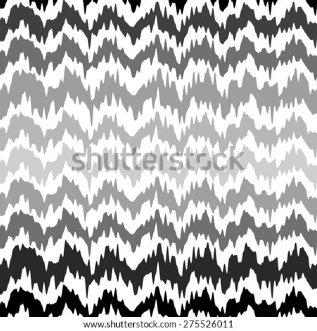 Ethnic zigzag seamless pattern. Vector illustration. - stock vector