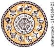 Ethnic zodiac icons - stock vector