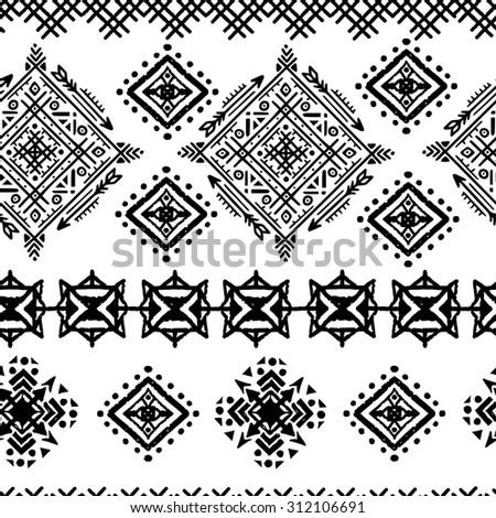 Aztec Native Navajo Design Elements Vector Stock Vector