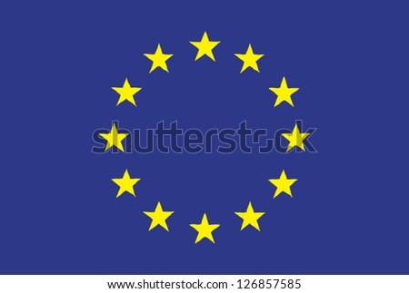 EU flag handdrawn - stock vector