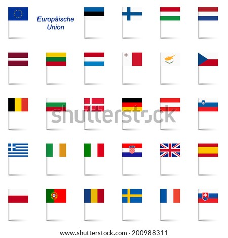 EU Member States - Flags - stock vector