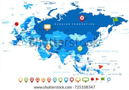 Eurasia europa russia china india indonesia vector de stock725108347 eurasia europa russia china india indonesia thailand map detailed vector illustration gumiabroncs Choice Image