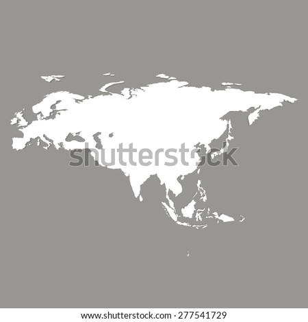 Eurasia vector map - stock vector