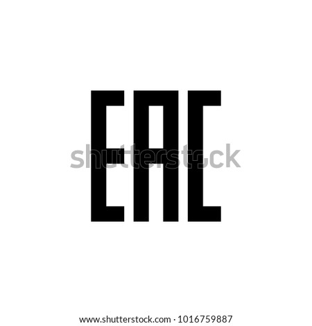 Eurasian Conformity EAC Certification Mark Indicate Stock Vector ...