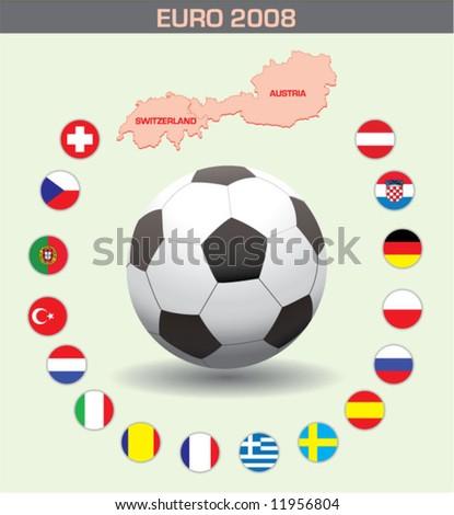 Euro 2008 - stock vector